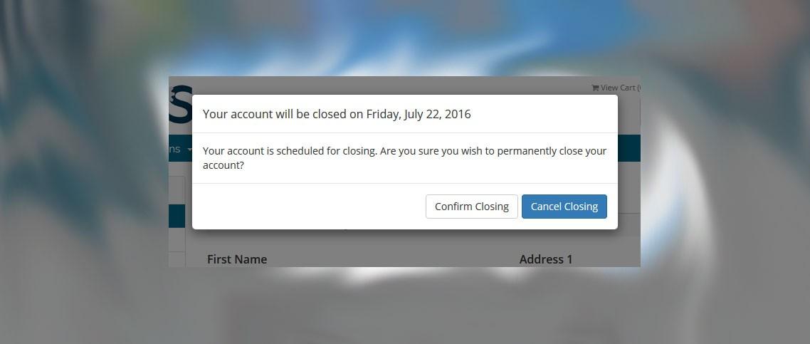 Delete/Close Account Image 6