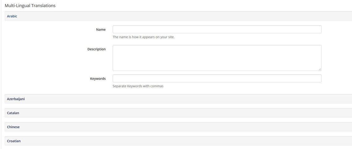 Blog category multi language