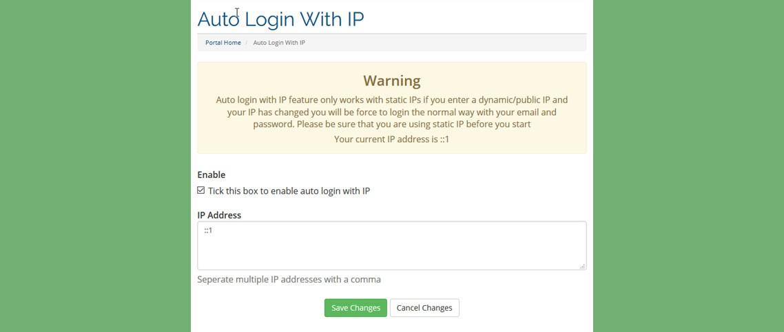Auto Login With IP Image 2